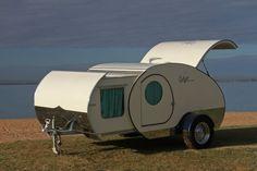 Retro Teardrop Camper Trailer