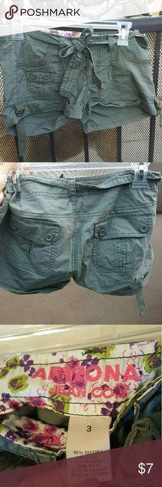 Arizona green shorts Army green Arizona Jean Company Shorts