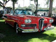 A red Edsel....Beep Beep.....Re-pin..Brought to you by #HouseofInsurance #Car ins #InsuranceAgency in Eugene OR