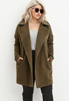 Longline Textured Dolman Coat