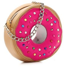 Betsey Johnson Donut Crossbody Bag   DSW ($40) ❤ liked on Polyvore featuring bags, handbags, shoulder bags, betsey johnson crossbody, crossbody shoulder bag, cross body, betsey johnson handbags and pink handbags