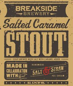 Breakside Brewery Salted Caramel Stout