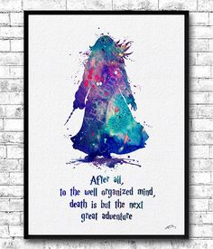 Albus Dumbledore Quote 3 Watercolor Print Harry Potter Nursery Art Albus Dumbledore Poster Wizard Wall Poster Giclee Home Decor Wall Hanging You will get this image without the watermark on it. This Blue Purple Albus Dumbledore is archival art print of my original watercolor digital illustration. Here you can see my works of Painted glass: https://www.etsy.com/shop/HandPaintedGlassArtS ❀ BUY 2, GET 1 FREE! ❀ LIMITED TIME ONLY ❀ Buy ANY 2 prints and get one free (of the same size- equal ...
