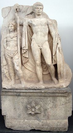 Sebasteion, relief of Tiberius with a captured barbarian. Aphrodisias Museum.