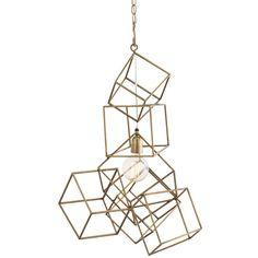 Arteriors Noel Geometric Cube Cluster Iron Pendant Light (5,375 CNY) ❤ liked on Polyvore