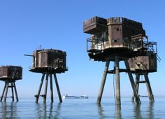 The Maunsell Forts were small fortified towers built in the Thames and Mersey estuaries during the Second World War to help defend the United Kingdom. They were named after their designer, Guy Maunsell. The forts were decommissioned in the late 1950s and later used for other activities. One became the Principality of Sealand; boats visit the remaining forts occasionally, and a consortium called Project Redsands is planning to conserve the fort situated at Redsand.