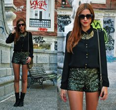 WHEREVER YOU GO, TAKE YOUR SEQUINS (by Andrea Gomez www.lotoflooks.com) http://lookbook.nu/look/4141672-WHEREVER-YOU-GO-TAKE-YOUR-SEQUINS bling 블링블링블링 스타일