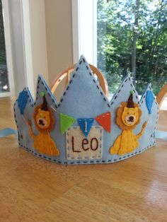 Lion Birthday Crown