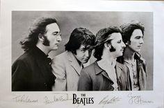 Beatles Signatures | Music | Hardboards | Wall Decor | Plaquemount | Blockmount | Art | Pictures Frames and More | Winnipeg | MB | Canada