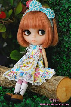 just because I love #blythe dolls . i want her hair but in my color