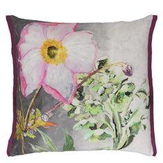 Madhuri Camelia Throw Pillow | Designers Guild