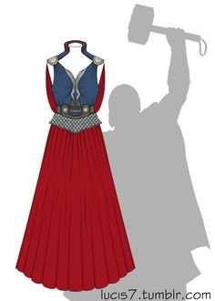 Thor dress by ~Lucis7 on deviantART. Seen a lot of these. First one I've been impressed by