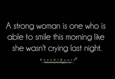 The strength of a woman...