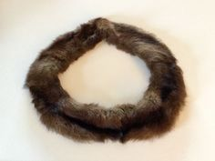 SALE  VINTAGE FUR CIRCULAR COLLAR , soft #Unbranded #RoundCollar #Anydressupordown