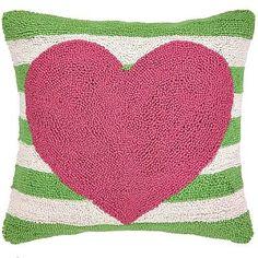 Pink Heart Pillow -