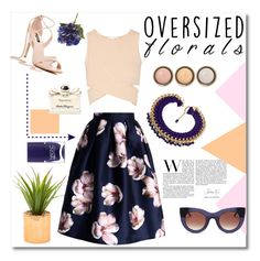 """Oversized flowers"" by maki007 ❤ liked on Polyvore featuring Jonathan Simkhai, Thierry Lasry, Chicwish, By Terry, Nails Inc., Salvatore Ferragamo, Flowers and polyvorecontest"