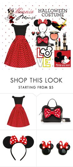 """Minnie Mouse Costume"" by amelia-carnero ❤ liked on Polyvore featuring Kate Spade, Disney, Sephora Collection, Halloween, PolkaDots, redandblack, Costume and lastminutecostume"