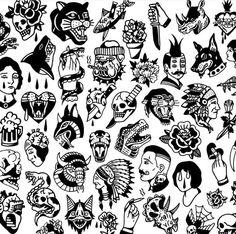 Tattoo Flash tattoo old school Flash Art Tattoos, Tattoo Flash Sheet, Body Art Tattoos, Sleeve Tattoos, Traditional Tattoo Illustration, Traditional Tattoo Design, Traditional Tattoos, Traditional Tattoo Filler, Traditional Ideas