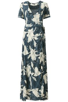 Indian Summer | Fall collection | Dress | Maxi | Blue | Flowers