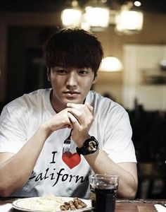 kpop For women Pop Lee Minho Park Shin Hye Couples Tee I Love California White T Shirt T-shirt K-POP LeeMinHo k pop bts exo got7