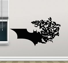 Batman Wall Decal Superhero Vinyl Sticker Marvel Comics Wall Art Design Housewares Kids Room Bedroom Decor Removable Wall Mural 4zzz * For more information, visit image link.Note:It is affiliate link to Amazon.