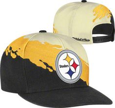 1a522e3ba72 Pittsburgh Steelers Mitchell  amp  Ness Cream Vintage  Paintbrush  Snapback  Hat Pittsburgh Steelers Merchandise