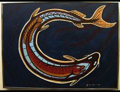 Carl Ray - Artist, Fine Art Prices, Auction Records for Carl Ray Native Canadian, Canadian Art, Woodland Art, Native American Symbols, Coastal Art, Indigenous Art, Native Art, Art Auction, Cute Art