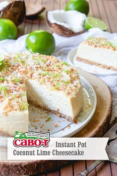 Perfect easy instant pot recipe for a sweet, tart, creamy cheesecake. A high-end dessert in less time than it took you to find this pin :) Greek Yogurt Cheesecake, Lime Cheesecake, Cheesecake Recipes, Graham Cracker Crumbs, Graham Crackers, Instapot Cheesecake, Instant Pot Cheesecake Recipe, Instapot Recipe, Marble Cake