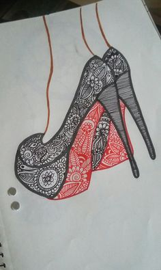 Doodles and mandalas on toe shoes