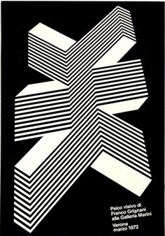 Poster by Franco Grignani, 1972