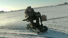 A 70mph mobility scooter… on snow