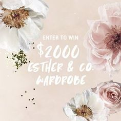 See here for your chance to win a $2000 Esther wardrobe xx Canadian Contests, Beauty Giveaway, Prize Giveaway, Facebook Giveaway, Back To School Essentials, Instagram Giveaway, 14th Birthday, Crossed Fingers, Enter To Win