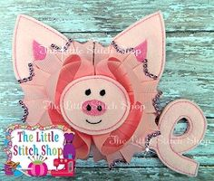Pig Oversized Feltie | What's New | Machine Embroidery Designs | SWAKembroidery.com The Little Stitch Shop