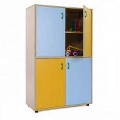Mueble escolar medio armario 4 puertas