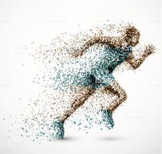 Vector Fisica Run, Pixels, Floating, Character PNG Image Man Vector, Vector Art, Running Art, Person Running, Foto Art, Sports Art, Sports Clubs, Art Plastique, Royalty Free Images