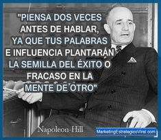 Napoleon Hill Think And Grow Rich In Spanish these Napoleon Hill Success Book underneath Home Business Ideas For Retired time Home Business News Leadership Tips, Leadership Roles, Robert Kiyosaki, Napoleon Hill Frases, Tony Robbins, Great Philosophers, Wealth Affirmations, Think And Grow Rich, Mean People