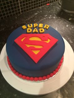 Super Dad Cake For Fathers Day X Birthday Cakes Superman