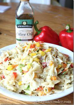 Fresh Veggie and Pasta Salad