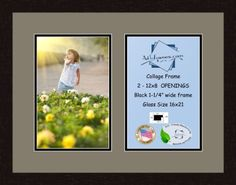 Art to Frames DoubleMultimat74274889FRBW26061 Collage Frame Photo Mat Double Mat with 2  8x12 Openings and Espresso frame * Check out this great product. (This is an affiliate link and I receive a commission for the sales)