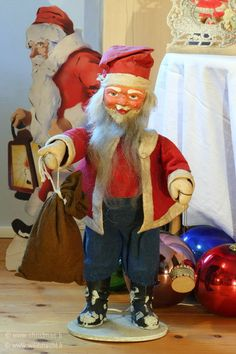 Mechanical, Electric Store Display Santa, from 1930's