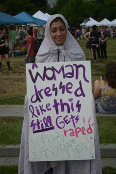 A woman dressed like this still gets raped. What's your excuse now?