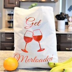 Everyday Tote Bag- Get Merloaded (Tan) by aKellyJeancreation on Etsy