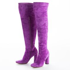 Buy your boots Michel Perry on Vestiaire Collective, the luxury consignment store online. Pre-owned Purple Boots Michel Perry in Suede available. White Heel Boots, White Heels, Suede Boots, Leather Boots, Heeled Boots, Purple Boots, Purple Suede, High Heels For Kids, African Wear Dresses