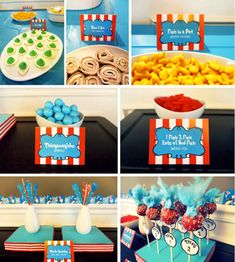 A Dr. Seuss party! To celebrate when he was born, because that is one more party you can fit in for the year..