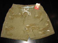 Tommy Bahama New Keep Palm Oakmoss Swim Suit Trunks L 35 - 36 waist TR98222 #TommyBahama #Trunks