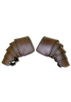 Larp shoulders - Warrior brown - Shoulder & Neck - Leather Armour - Armour