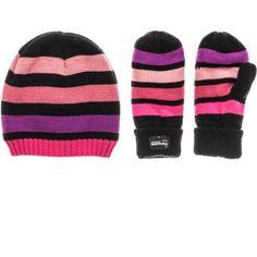 85bafe9fb03 Frostline Essentials Girls  Beanie Knit Hat and Mitten Set