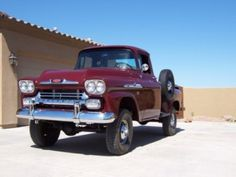 Early 4x4. 58 Chevy Apache. Tried buying one off an old guy back home once, he wanted more then I had. Wonder what happened to the ole gal?