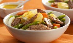 Salada de legumes com molho de mostarda