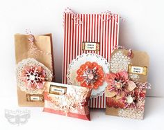 Sizzix: bags, box and tag - for Christmas, via Flickr. - Finnabair
